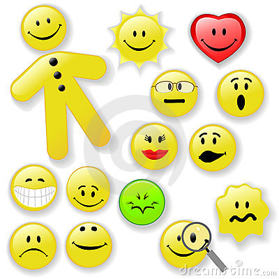 Free Smiley Face Button Emoticon Family Royalty Free Stock Photography - 3962047