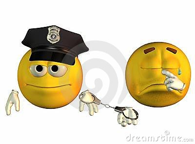 Smiley face cop and robber