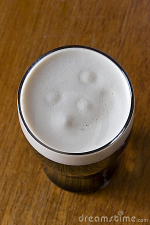 Smiley face in a Pint of Stout