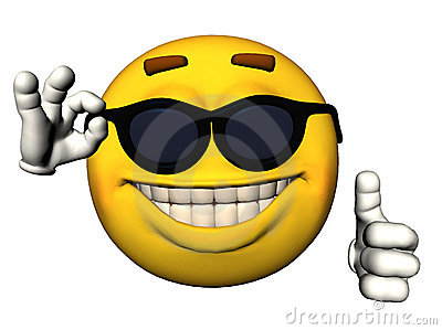 Smiley Face With Thumbs Up Stock Photography - Image: 14491322