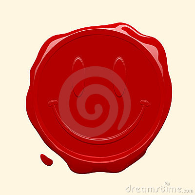 cartoon happy face pictures. Red smiley face wax seal