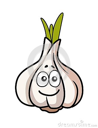 Smiley faced garlic bulb
