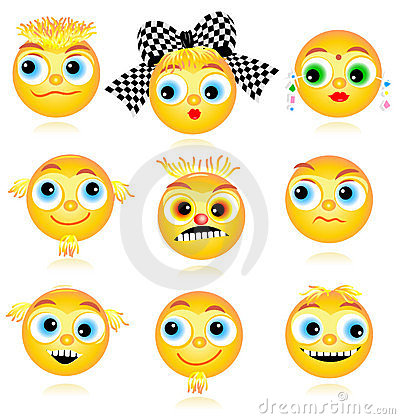 Smiley faces or avatars set