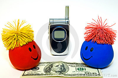 Smiley Faces, Cellphone and Money
