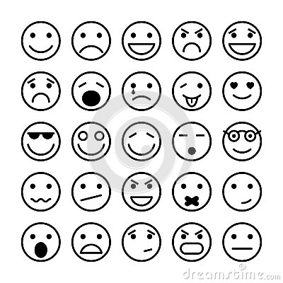 Free Smiley Faces Elements For Website Design Stock Photography - 36786752