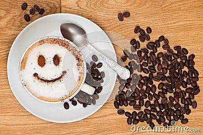 Smiley-Gesichts-Kaffee