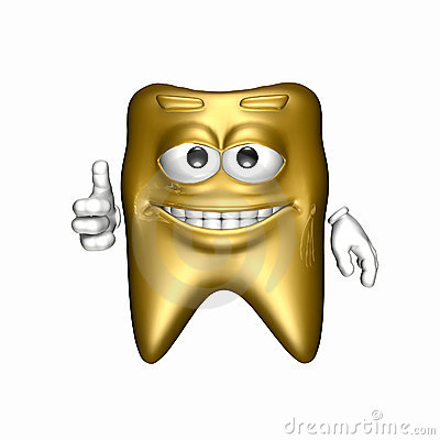 Smiley Gold Tooth