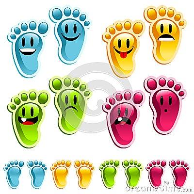 Free Smiley Happy Feet Royalty Free Stock Photos - 16010948