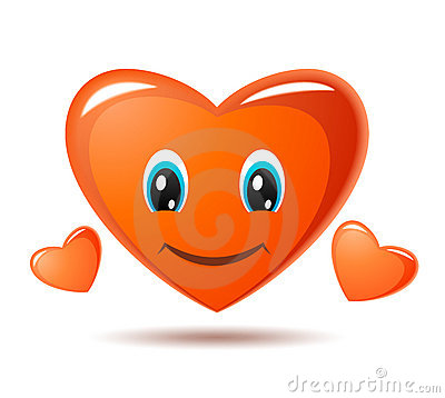 Smiley heart. Vector icon
