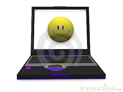 Smiley lap top