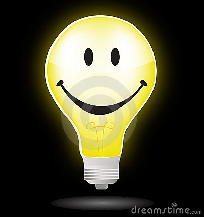 Smiley light bulb