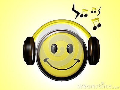 Smiley Listening music