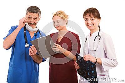 Smiley medical team