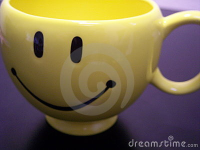 Smiley mug close up