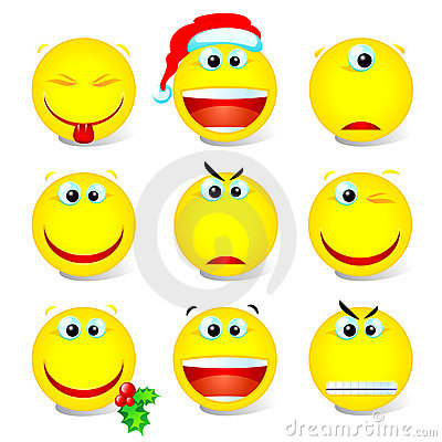 Free Smiley Set 002 Stock Photo - 3762970