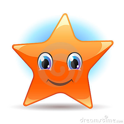 Smiley star. Vector icon