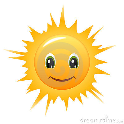 Smiley Sun. Vector icon