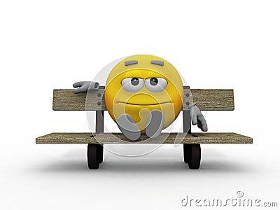 Smiley sur le banc