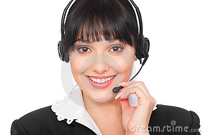 Smiley telephone operator