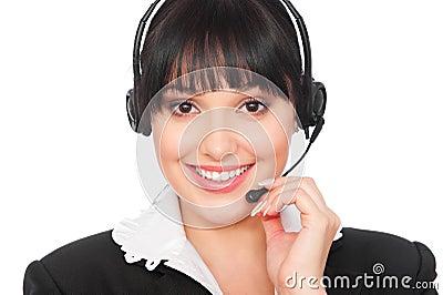 Smiley telephone operator