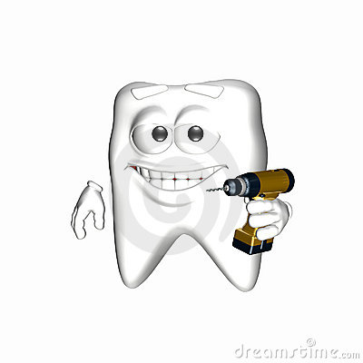 Smiley Tooth - Ready to Drill