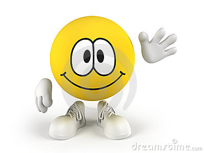 Smiley Waving A Hand Royalty Free Stock Photos - Image ...