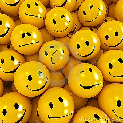 Free Smilies With Different Expressions Royalty Free Stock Photos - 3871718