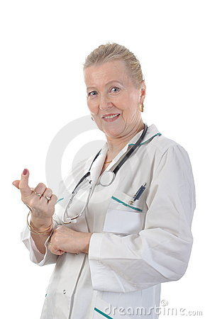 Smiling adult doctor