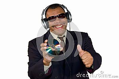 Smiling African-American man posing thumbs up