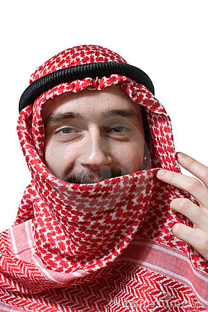 Smiling arabian young man