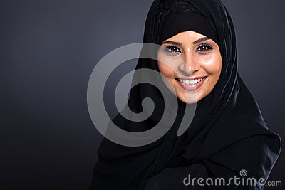 Smiling Arabic woman