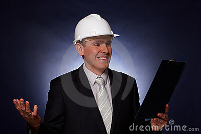 Smiling architect