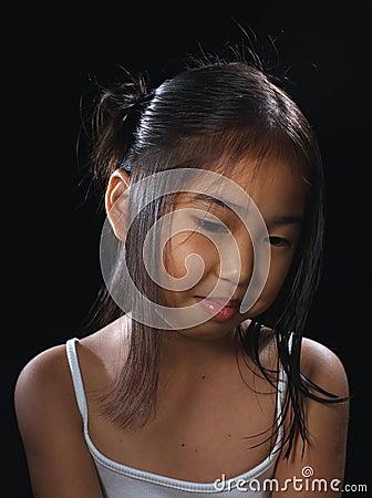 Smiling asia girl