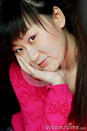 Smiling Asia woman