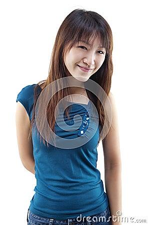 Smiling Asian female