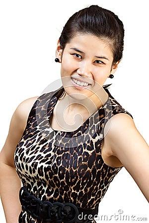 Smiling asian girl.