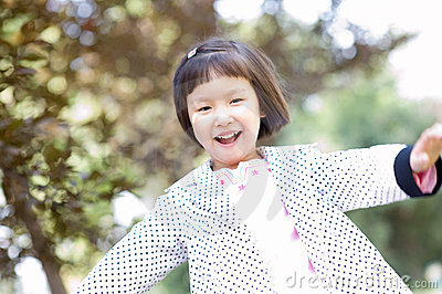 Smiling asian little girl