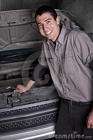Smiling Auto Repair Mechanic