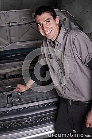 Smiling Auto Repair Mechanic