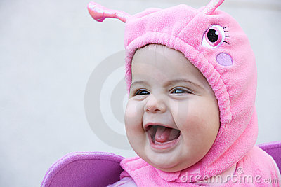 Smiling baby in costume