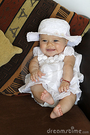 Smiling Baby in Dress