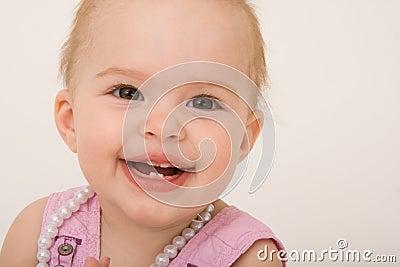 Smiling baby girl, toddler