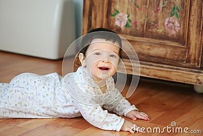 Smiling baby, soft focus