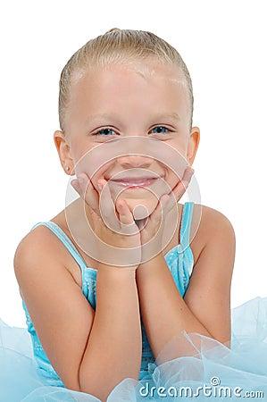 Smiling Ballerina Girl