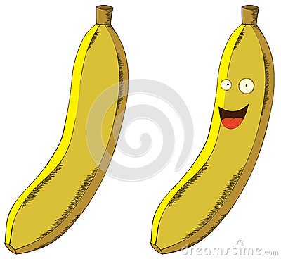 Smiling banana