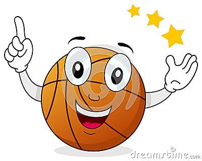 Smiling Basketball Cartoon Character