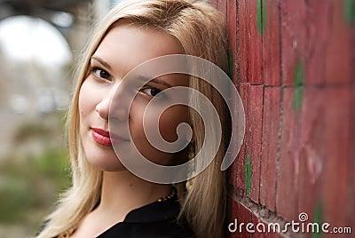 Smiling beautiful young woman