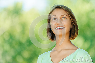 Smiling beautiful young woman