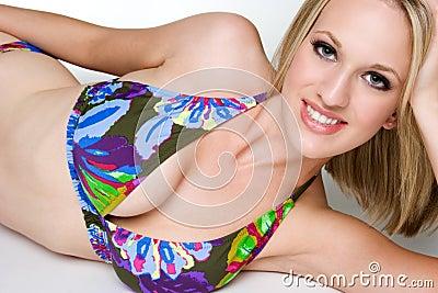 Smiling Bikini Woman