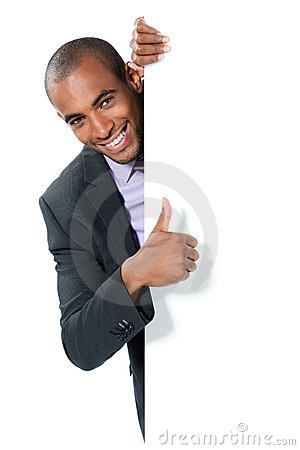 Smiling black businessman
